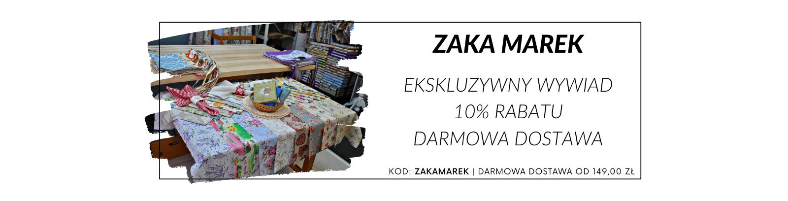 Zaka Marek - ekskluzywny wywiad, promocja i darmowa dostawa!